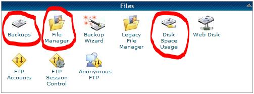 Files cPanel