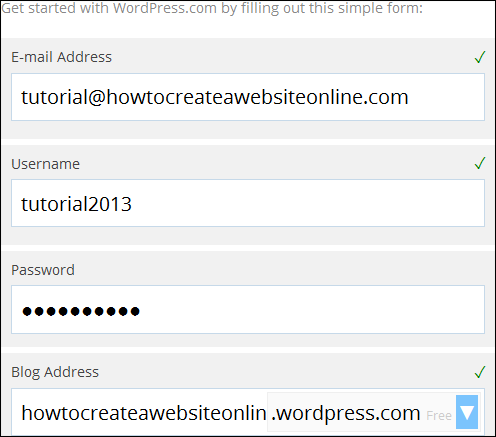 WordPress Email Address