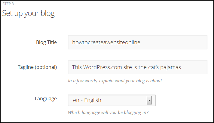 WordPress Step 3