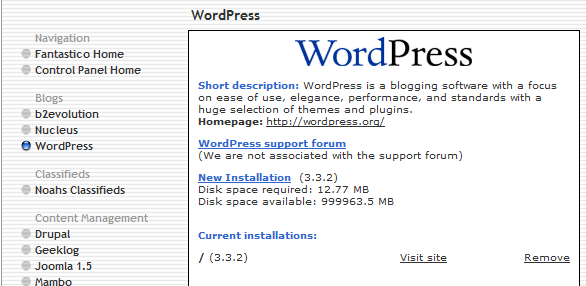 wordpress fantastico