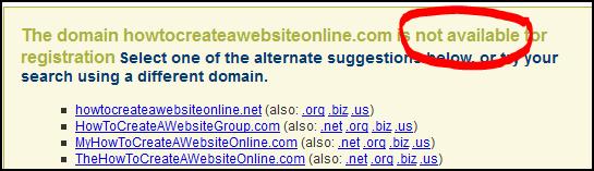 domain-taken